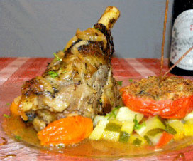 Candied lamb shank